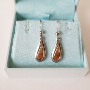 Express Silver & Gold Double Teardrop Earings
